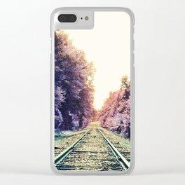 train TRACKS : Fond Dreams Clear iPhone Case
