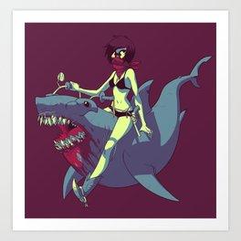 Sharkquestrian Art Print