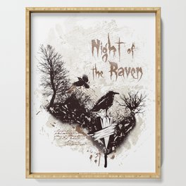 Night of the Raven Serving Tray
