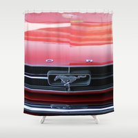 mustang Shower Curtains featuring Mustang by JJ's Photography