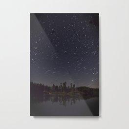 Star Trails Metal Print