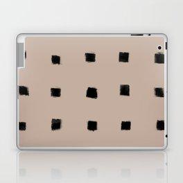 Polka Strokes Gapped - Black on Nude Laptop & iPad Skin