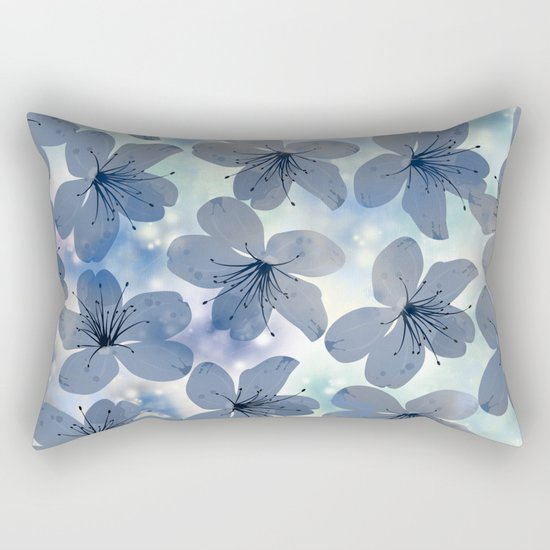 Floral Pattern C Rectangular Pillow