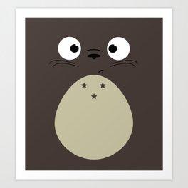 Dark Weird Cat Art Print