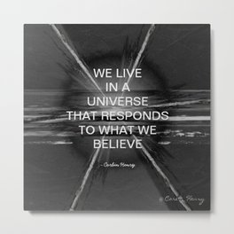 We Live In A Universe Quote - Society6 - Art - Luxury - Comforter - Bedding - Throw Pillows - Laptop Metal Print