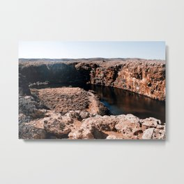 The Canyons of Exmouth Metal Print
