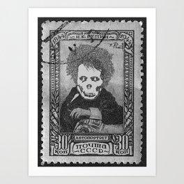 Deadhead Stamp Art Print
