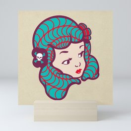 Girl Power Dynamite Laser Beam Mini Art Print