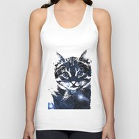kitty Tank Tops featuring kitty by Cat Milchard