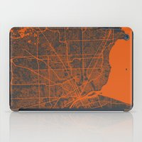 detroit iPad Cases featuring Detroit map by Map Map Maps