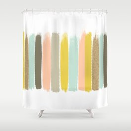 Madison - Brushstroke art print in modern colors bright and happy gifts for trendy girls Shower Curtain