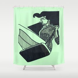 Persistent Swing Shower Curtain
