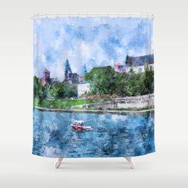 Cracow art 19 #cracow #krakow #city Shower Curtain