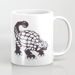 Ankylosaurus Dinosaur Prehistoric Black and White Coffee Mug