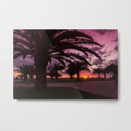 Meloneras sunset walk Metal Print