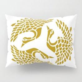 Golden Herons Pillow Sham