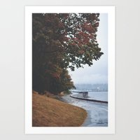 vancouver Art Prints featuring Vancouver by Tasha Marie