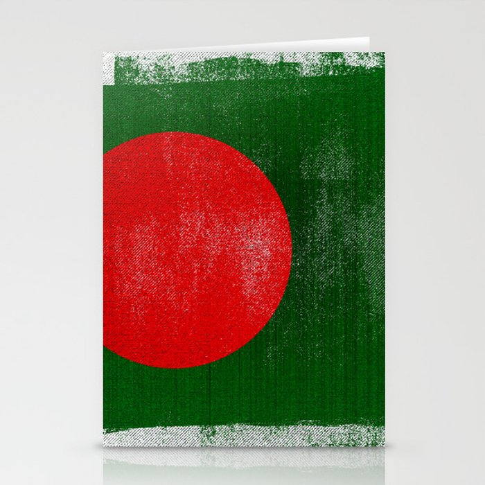 Bangladesh Distressed Halftone Denim Flag Stationery Cards