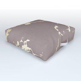 Kintsugi Ceramic Gold on Red Earth Outdoor Floor Cushion