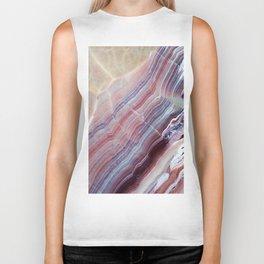 Purple & Pink Striped Agate Geode Quartz Slab Biker Tank