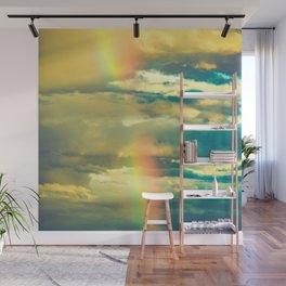 Rainbow Blue Sky Clouds Wall Mural