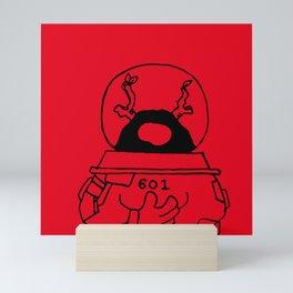 Spaceman in 601 universe - Scarlet Red Mini Art Print