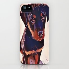 Rottweiler Puppy Born To Be Wild iPhone Case