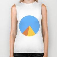 pyramid Biker Tanks featuring Pyramid by Nikkita