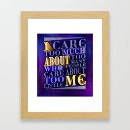 Quote Design (Clean Version) Framed Art Print
