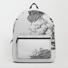 Above the clouds. Backpack