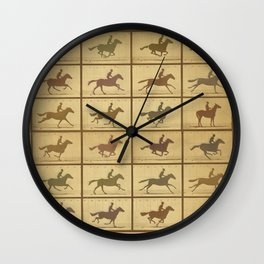 Time Lapse Motion Study Horse muted Wall Clock