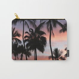 Tropical Palm Trees Sunset in Mexico Carry-All Pouch
