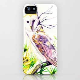 Owl Furze Wisdom  iPhone Case
