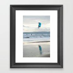 Kite Surfer Framed Art Print