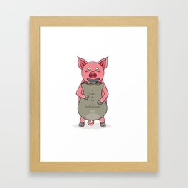 pig and bag with gold coins Framed Art Print