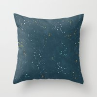 constellations Throw Pillows featuring Constellations by Little Holly Berry