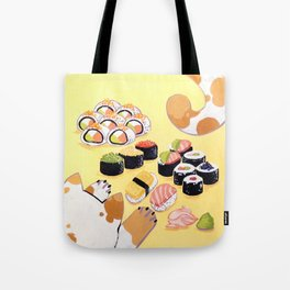 Sushi+cats=yes Tote Bag