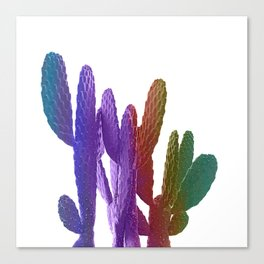 Unicorn Cactus Canvas Print