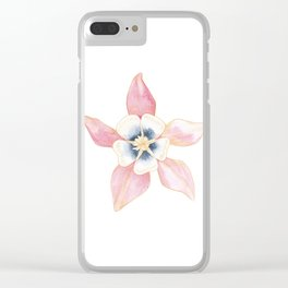 Columbine Floral Botanical Art Work Clear iPhone Case