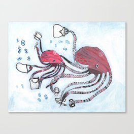 Bargain Hunters Canvas Print