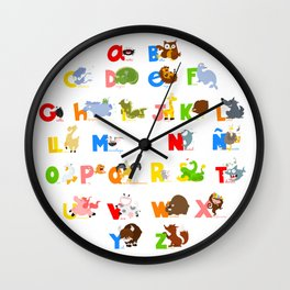 ABC (spanish) Wall Clock