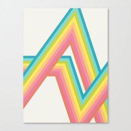 Retro Rainbow Rays Canvas Print