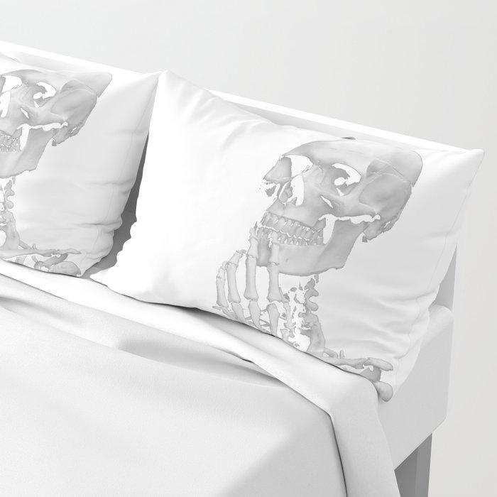Thinking Skeleton (Black and White) Pillow Sham