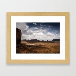Monument Valley Dramatic Skies Framed Art Print