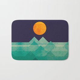 The ocean, the sea, the wave - night scene Bath Mat