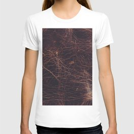 Brown leather texture T-shirt