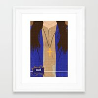 neil young Framed Art Prints featuring The Young Ones Poster Series :: Neil by David Edward Johnson