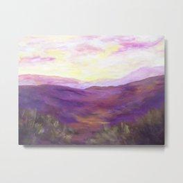 A Violet Landscape AC150625a Metal Print