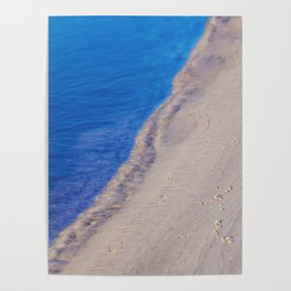Water and Sand Abstract Poster