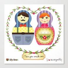 I {❤} Matryoshka Canvas Print
